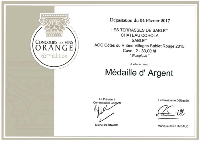 Concours des Vins d'Orange 2017